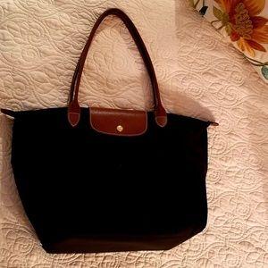 Longchamp Le Pilage Large Black Tote